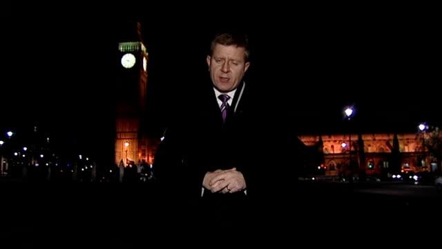 david cameron backs same sex church weddings westminster reporter to camera - back stock videos & royalty-free footage
