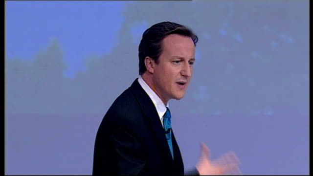 david cameron closing speech of conservative party conference 2007; young people listening to speech - you remember ten years ago being told how many... - 50 seconds or greater stock-videos und b-roll-filmmaterial