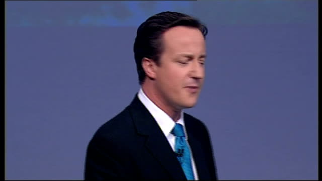 david cameron closing speech of conservative party conference 2007 people want to know are you really up for it / do you have what it takes / are you... - monopoly chance stock videos & royalty-free footage