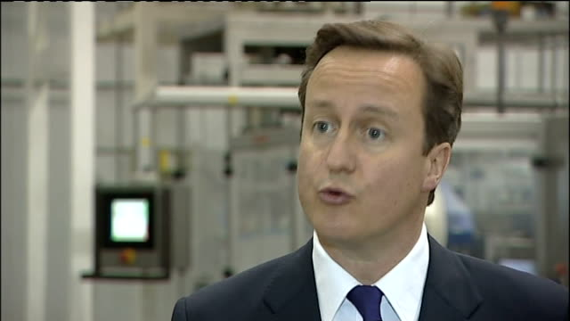 david cameron comments on pakistan based terrorism david cameron interview sot the last government cut capital spending by fifty percent they cut it... - stafford england stock videos and b-roll footage