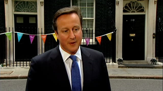 david cameron comments on team gb medals england london downing st ext david cameron mp from no10 and sot this has turned into a golden summer for... - national team stock videos & royalty-free footage