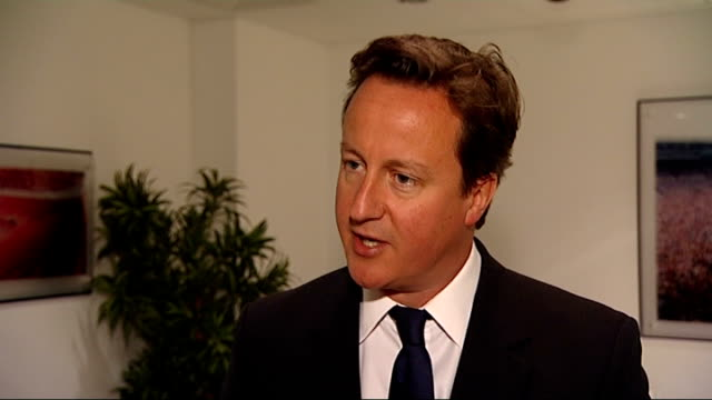 david cameron confirms the military covenant will become law; england: int david cameron mp interview sot - they are courageous, brave, professional,... - 証書点の映像素材/bロール