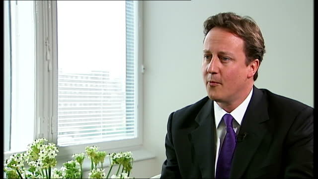 david cameron criticised by party members and voters cameron interview very little that is new / support more academies / we were always the one... - politics and government stock videos & royalty-free footage