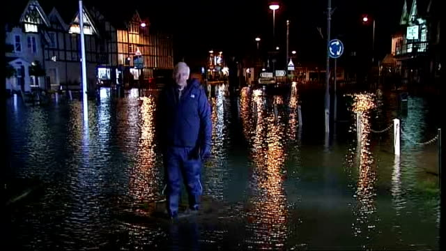david cameron defends handling of flood crisis tx datchet jon snow speaking to camera as wading through floodwater end lib - jon snow newscaster stock videos and b-roll footage