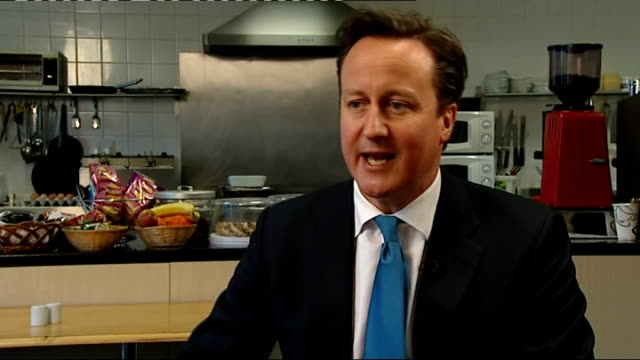 david cameron gives first interview of 2012; england: herefordshire: hereford: int david cameron mp interview sot - the economy grew last year and... - herefordshire stock videos & royalty-free footage
