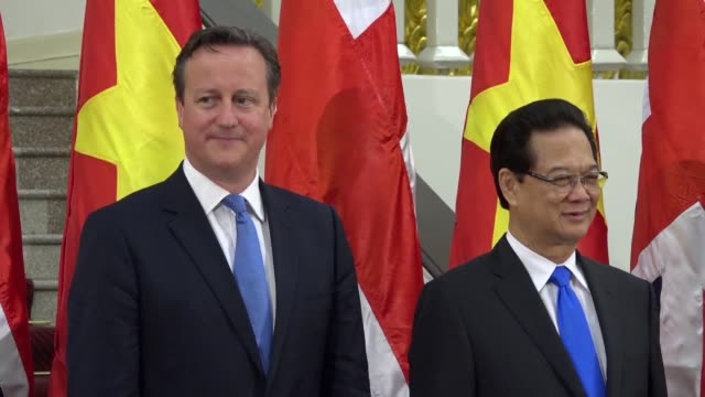 David Cameron hailed talks on environmental and human rights issues with Vietnam Wednesday during the first visit by a British Prime Minister to the...