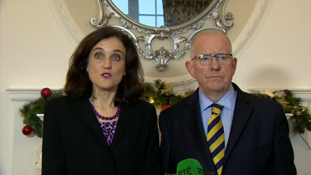 david cameron has welcomed a new political deal to address a range of disputes at teh heart of powersharing in northern ireland broad agreement... - sinn fein stock videos & royalty-free footage