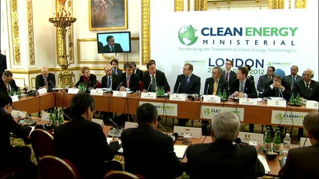 david cameron hosts renewable energy summit in london london int cameron speaking at clean energy ministerial summit david cameron mp speaking sot... - david cameron politician stock videos & royalty-free footage