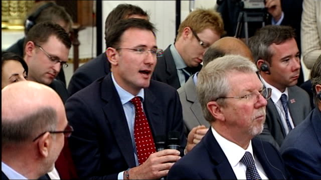 david cameron in moscow press conference qa session continued bbc news reporter james landale asking further question about alexander litvinenko... - james landale stock videos & royalty-free footage
