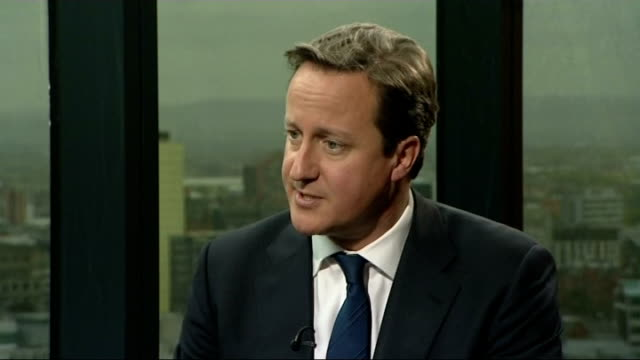 david cameron interview at the conservative party conference int david cameron mp interview sot about having 5 weeks to save the world economy i... - 緊急援助点の映像素材/bロール
