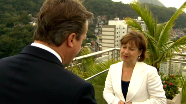 rio de janiero ext david cameron mp interview sot horrific incident/ thoughts with the familes/ we are going to try and find out exactly what... - newly industrialized country stock videos and b-roll footage