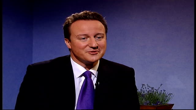 david cameron interview on ageing uk population and iraq; england: london: int david cameron mp interview sot - today, 1 in 6 people in our country... - social services stock videos & royalty-free footage