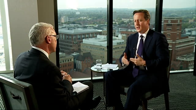 david cameron interview on more tax powers for london mayor birmingham int david cameron sot he's a popular administrator popular as politician and... - ladder of success stock videos & royalty-free footage