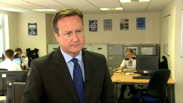 David Cameron interviews on fall in crime figures and cigarette packaging row Cameron interview SOT On falling crime figures / crime at lowest level...
