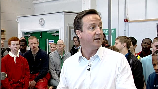 david cameron lewisham visit cameron into room and introduced to group of students by principal maxine room sot various shots of david cameron... - cut video transition stock videos & royalty-free footage