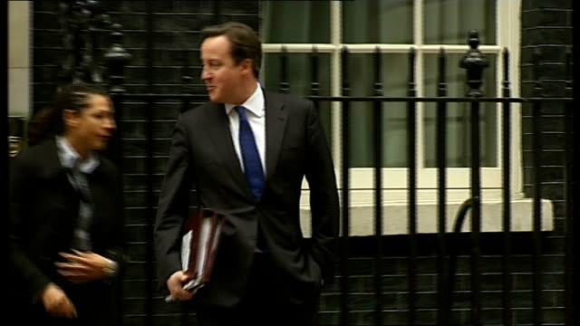 David Cameron meets boss of Google but tax arrangements not discussed LIB / EXT David Cameron MP departing Number 10 then along and into car