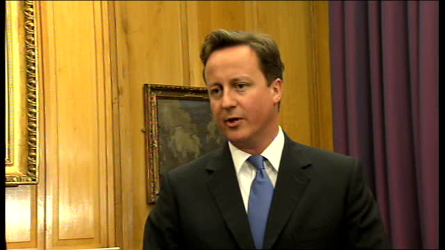 david cameron meets enda kenny at government buildings david cameron mp speaking to press sot thanks enda / my first official visit to the republic... - politics and government stock videos & royalty-free footage