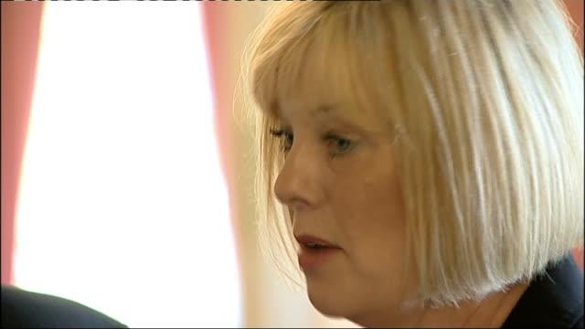 david cameron meets winner of nursing standard nurse of the year 2011 award; england: london: downing street: int **beware flash photography** david... - fototermin stock-videos und b-roll-filmmaterial