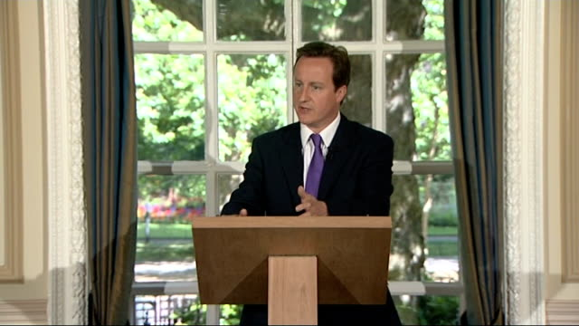 david cameron monthly press conference england london st stephens club photography *** david cameron mp press conference sot on end of parliamentary... - stabilisers stock videos & royalty-free footage