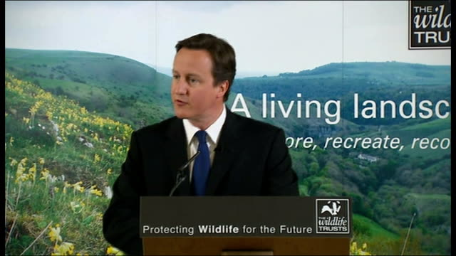 vídeos y material grabado en eventos de stock de david cameron nature reserve visit and biodiversity speech david cameron speech continued sot housebuilding must beat biodiversity and conservation... - biodiversidad