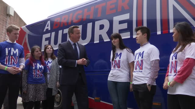 david cameron offered no apologies today for commissioning a pro-eu leaflet which will be sent to every home in the country. he insisted the near ten... - exeter england stock videos & royalty-free footage