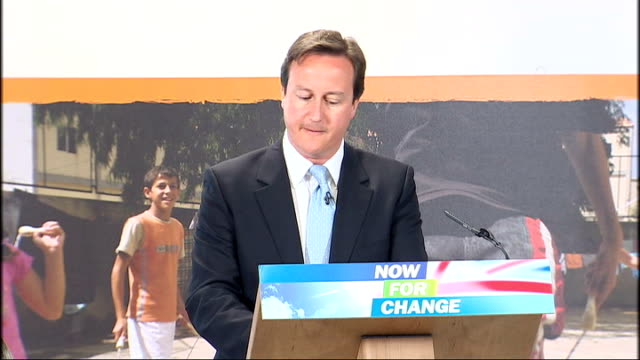 vídeos y material grabado en eventos de stock de david cameron overseas aid speech at save the children; cameron speech sot - but they understand that there are still billions who have the tiniest... - new age