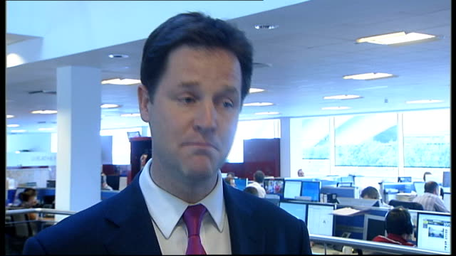 david cameron pledges redistribution of power from westminster scotland int nick clegg mp interview sot - ニック クレッグ点の映像素材/bロール