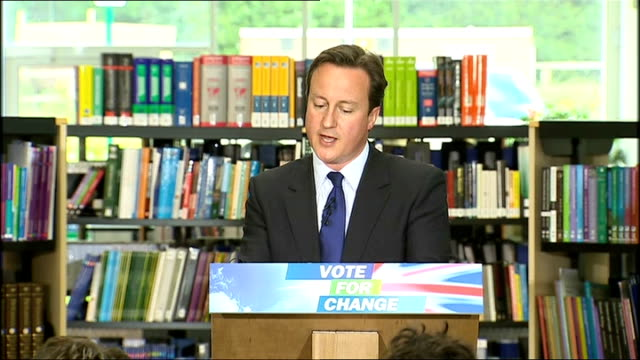 david cameron pledges redistribution of power from westminster; cameron speech sot - these changes lead to massive redistribution of power from... - 分散点の映像素材/bロール