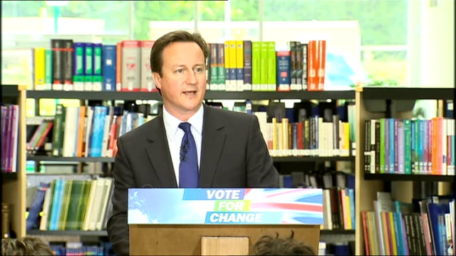 david cameron pledges redistribution of power from westminster england buckinghamshire milton keynes walton hall photography *** david cameron mp... - in the loop 2009 film stock videos and b-roll footage