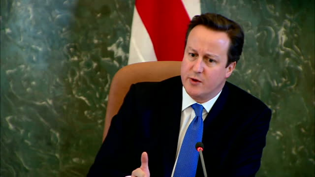 Riga INT David Cameron MP press conference SOT On bank regulation negotiations in Brussels / Latvian tax system / UK corporate tax system / Liberal...