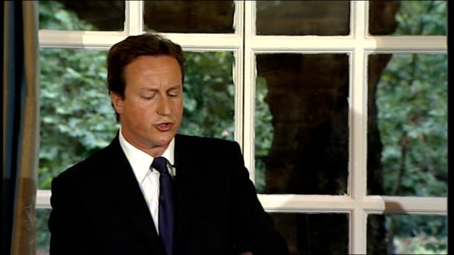 david cameron press conference on georgia crisis / housing market / elections david cameron continued sot should we look at visa regime for russian... - g8 stock-videos und b-roll-filmmaterial
