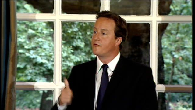 david cameron press conference on georgia crisis / housing market / elections; domestic issues david cameron continued sot - most important concern... - georgia us state stock videos & royalty-free footage