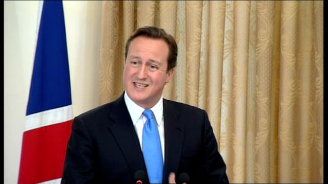 david cameron press conference with hamid karzai; cameron press conference sot - the president and i discussed the importance that alongside the... - number of people stock videos & royalty-free footage