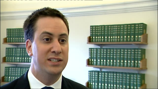 david cameron relaunches the 'big society' london ed miliband mp interview sot if he claims to support the big society then he should be worried... - 整理ダンス点の映像素材/bロール