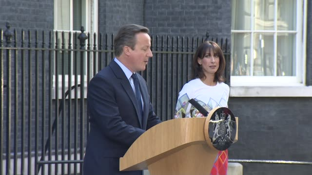 david cameron resigns as an mp lib / david cameron along with samantha cameron and announces resignation sot - david cameron politician stock videos & royalty-free footage