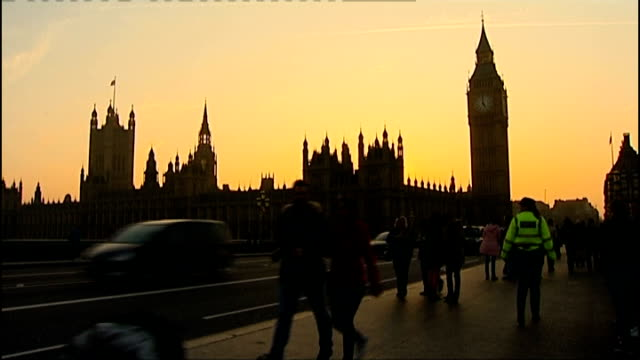 david cameron responds to critics in mail on sunday article t05031217 sun setting behind the houses of parliament - article stock videos & royalty-free footage