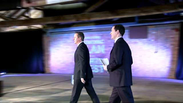 david cameron rules out leaders tv debates without the green party taking part england manchester granada studios ext prime minister david cameron mp... - green party stock videos and b-roll footage