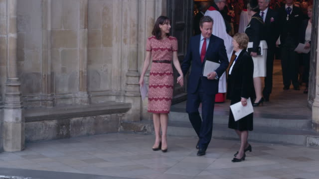 4K David Cameron Samantha Cameron at Battle of the Somme Centenary Westminster Abbey Service on June 30 2016 in London England