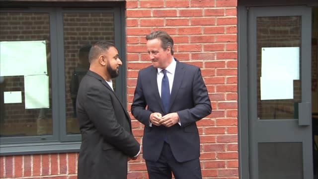 David Cameron sets out new measures to tackle extremism ENGLAND Birmingham Acocks Green Ninestiles Academy EXT Prime Minister David Cameron MP from...
