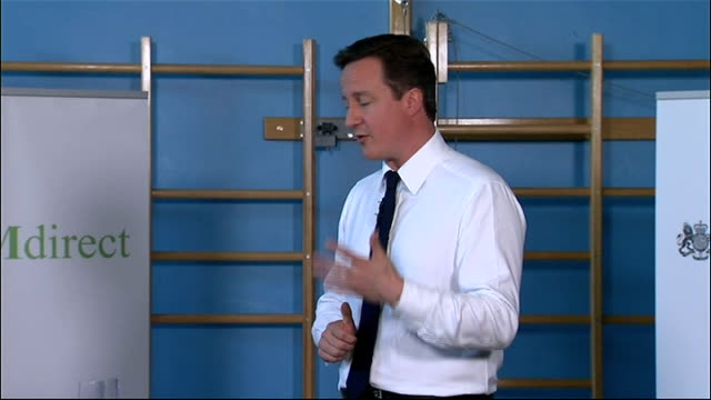 david cameron speaks at his first pm direct meeting in leeds david cameron mp qa session sot on government cuts and effect on shortterm prison... - cut video transition stock videos & royalty-free footage