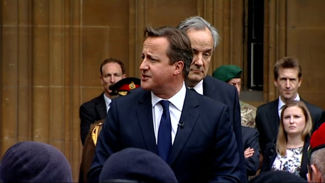 david cameron speaks to troops; gvs cameron taking salute david cameron speech to troops sot - can i warmly welcome you to the house of commons, it... - afghan national army stock videos & royalty-free footage