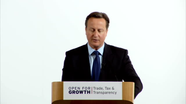david cameron speech and panel discussion; england: london: lancaster house: int david cameron mp speech on tax and transparency being vital to make... - panel discussion stock videos & royalty-free footage