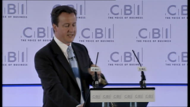 david cameron speech at cbi the only sustainable way to reduce the demand for taxation and cut the cost of living is to bring down the cost of... - lavori di casa video stock e b–roll