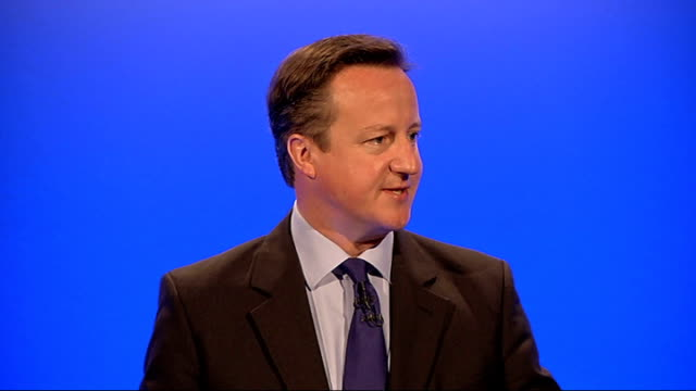david cameron speech at disability employment conference england london int various shots of david cameron mp chatting to group of disabled people... - equality now stock videos and b-roll footage