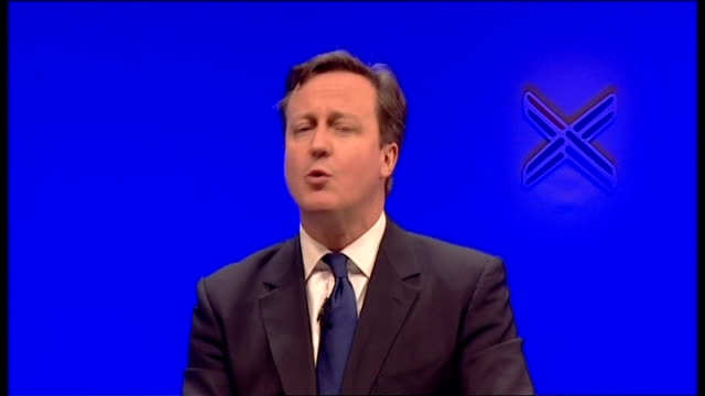 david cameron speech at scottish conservatives conference cameron speech sot but what about us yes we have a great record in government we've got a... - borders books stock-videos und b-roll-filmmaterial