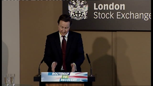 david cameron speech at the london stock exchange england london stock exchange photography ** david cameron mp speech sot on his family history with... - börse von london stock-videos und b-roll-filmmaterial