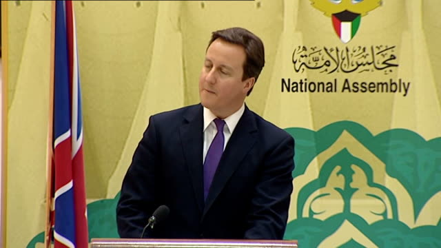 vídeos de stock, filmes e b-roll de david cameron speech during visit; david cameron continued sot as i said in downing street ten days ago, and as i repeated yesterday in cairo, this... - 1899