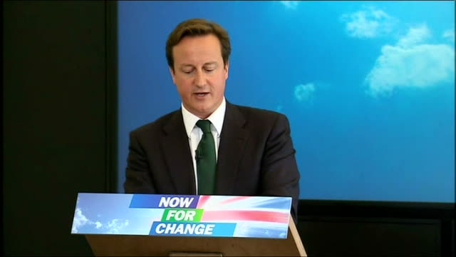 David Cameron speech on cutting the cost of politics David Cameron speech continues SOT Our recovery depends on these people on the decisions they...
