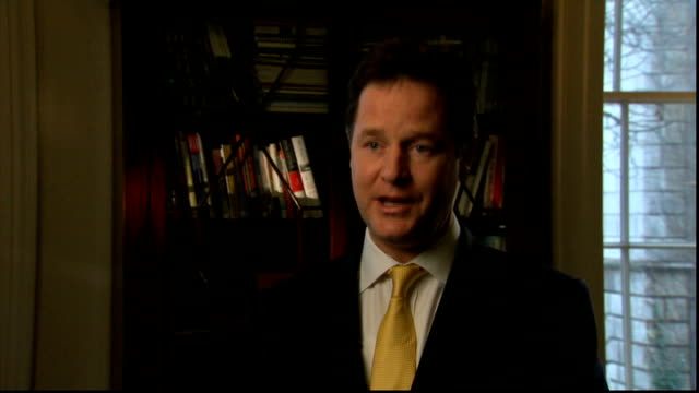 stockvideo's en b-roll-footage met david cameron speech on european union membership referendum pledge london nick clegg mp interview sot liberal democrat priority is to build a... - harder