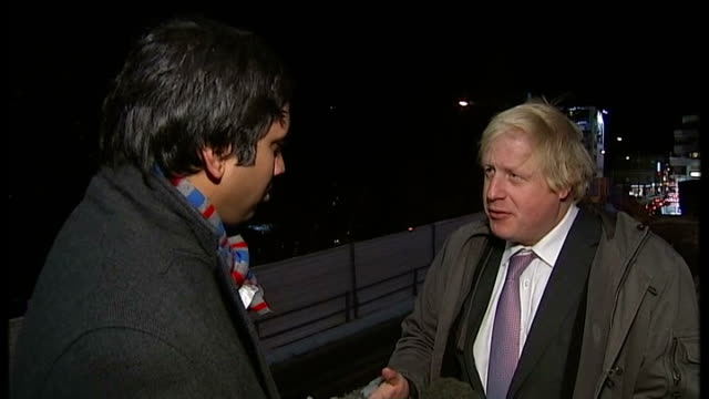 david cameron speech on european union membership referendum pledge switzerland davos boris johnson interview sot - 投票点の映像素材/bロール